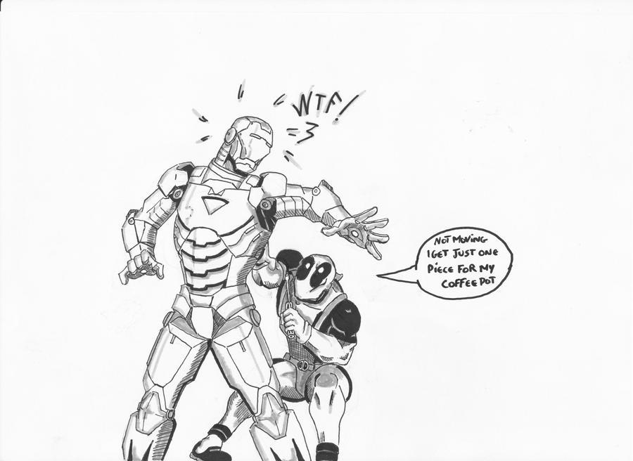 Deadpool VS Ironman by Eldhrad