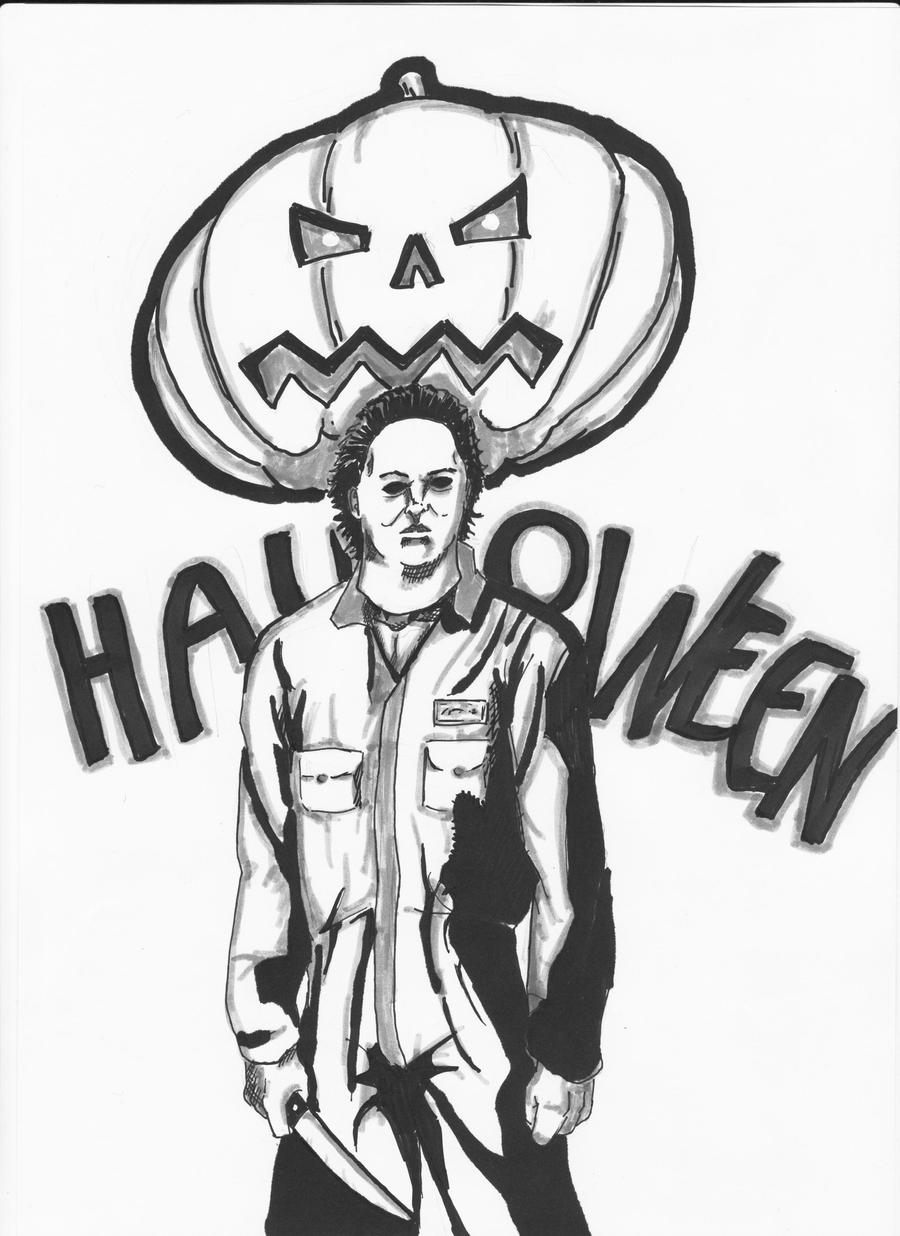 Michael myers by eldhrad on deviantart for Michael myers coloring pages