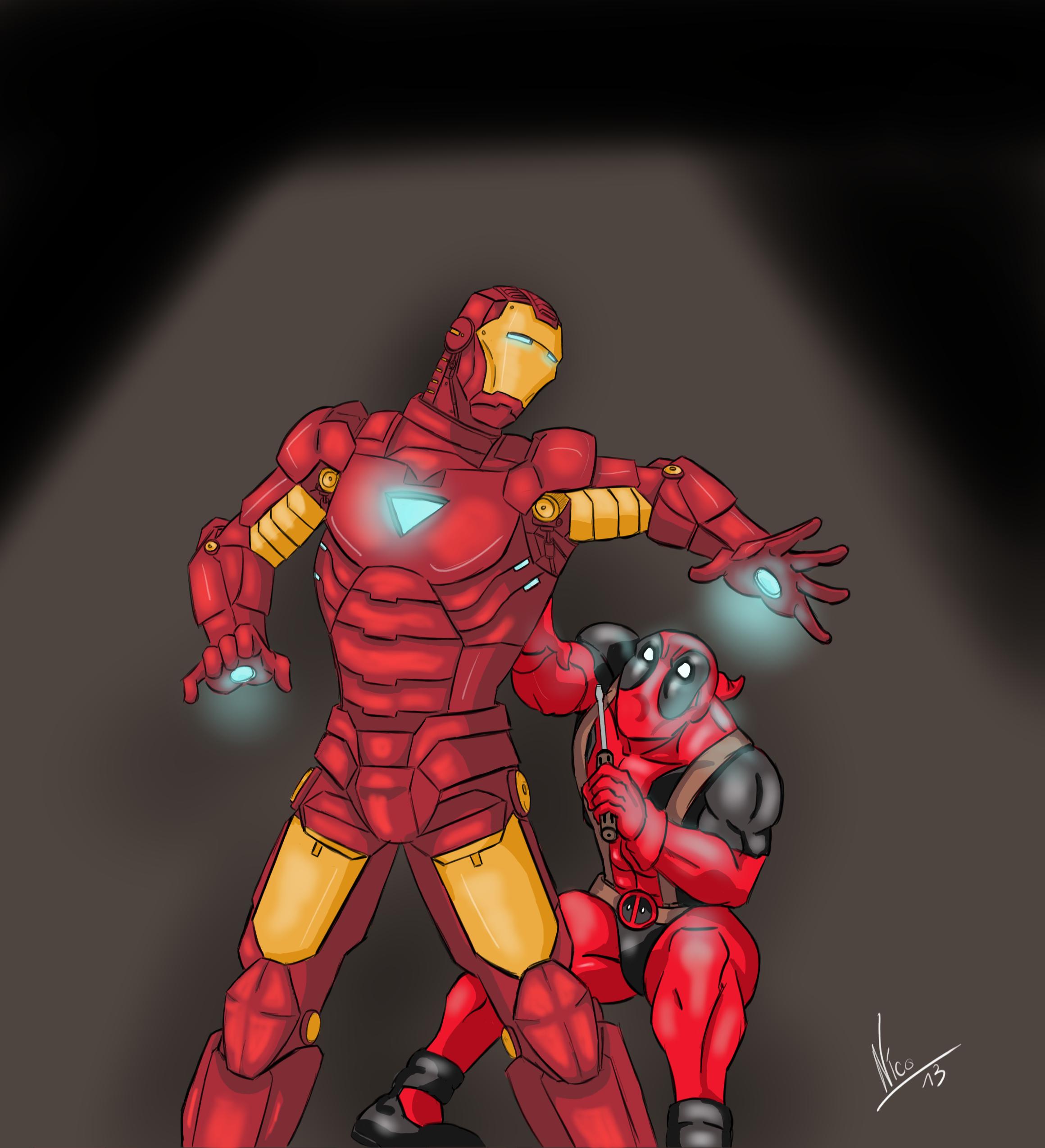 Deadpool Iron Man by Eldhrad