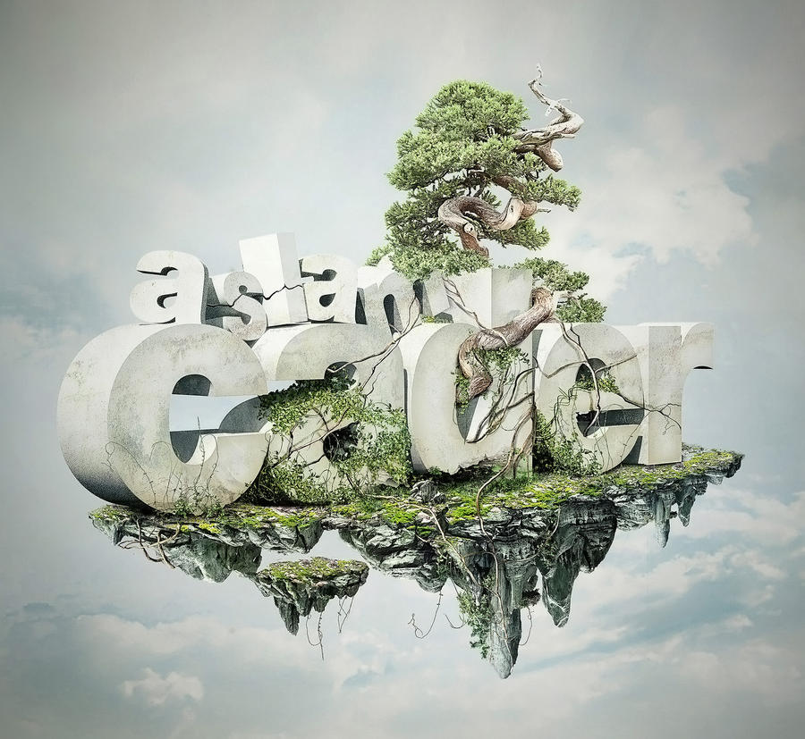 Text Design 3d Aslam Graphic Typography By Pixpal On