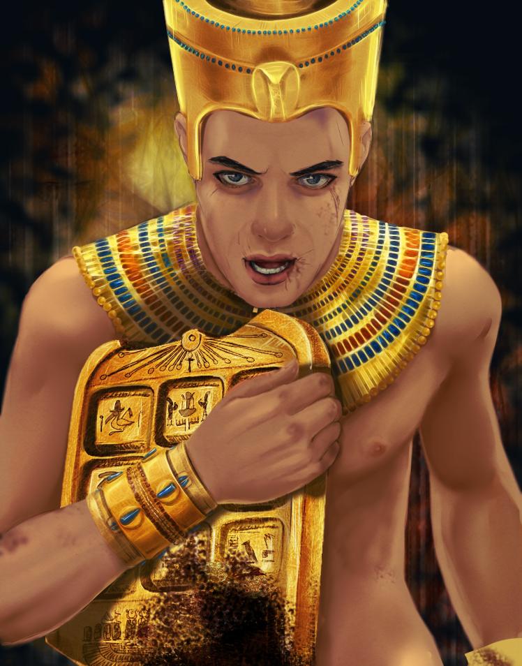 the Magical  Golden Tablet of Akhmenrah by volkradugi