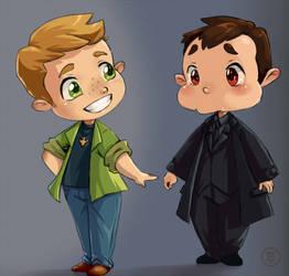 Dean and Crowley by volkradugi