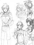 FE Genderbend Sketches