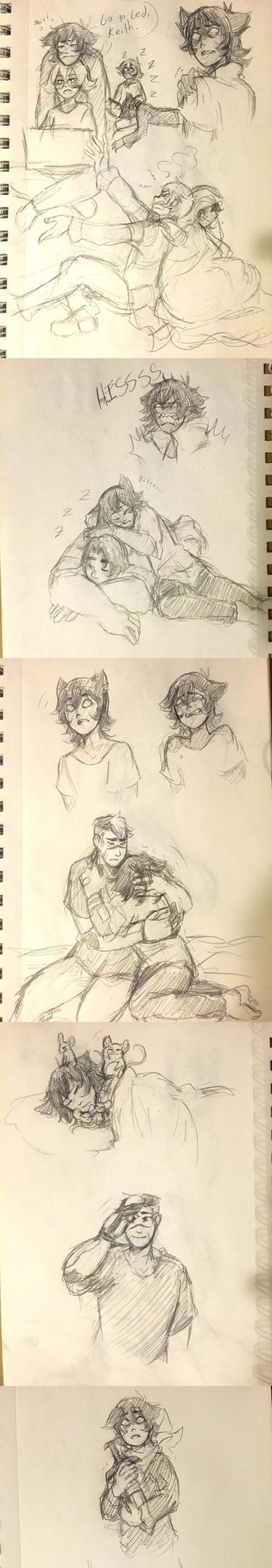 Galra!Keith Doodles by Medli45
