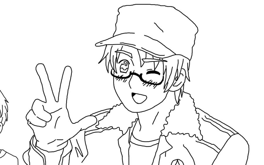 Line Art Usa : Aph america line art by pockyboxes on deviantart