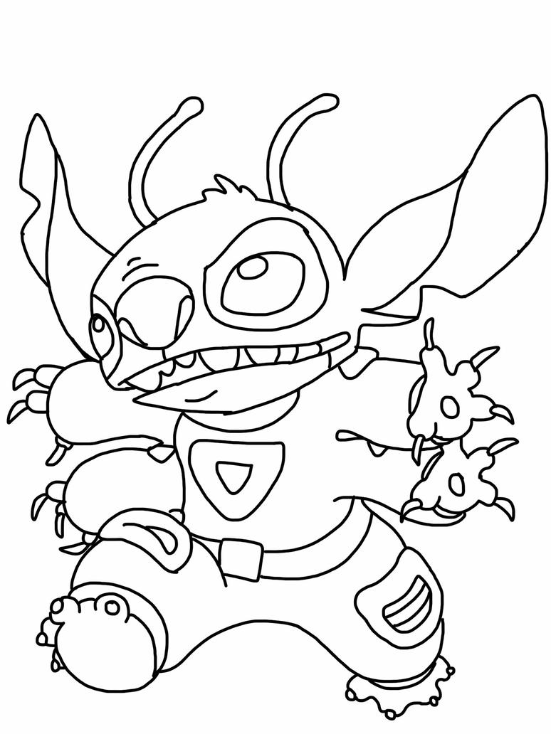 Stitch coloring page by Angrybird54 on DeviantArt