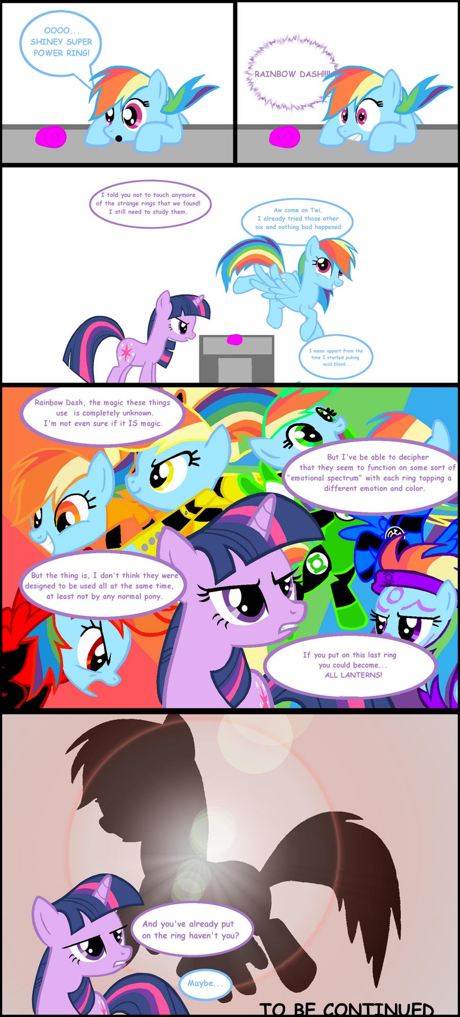 Rainbow Dash:The All Lantern 1 by Bronyboy