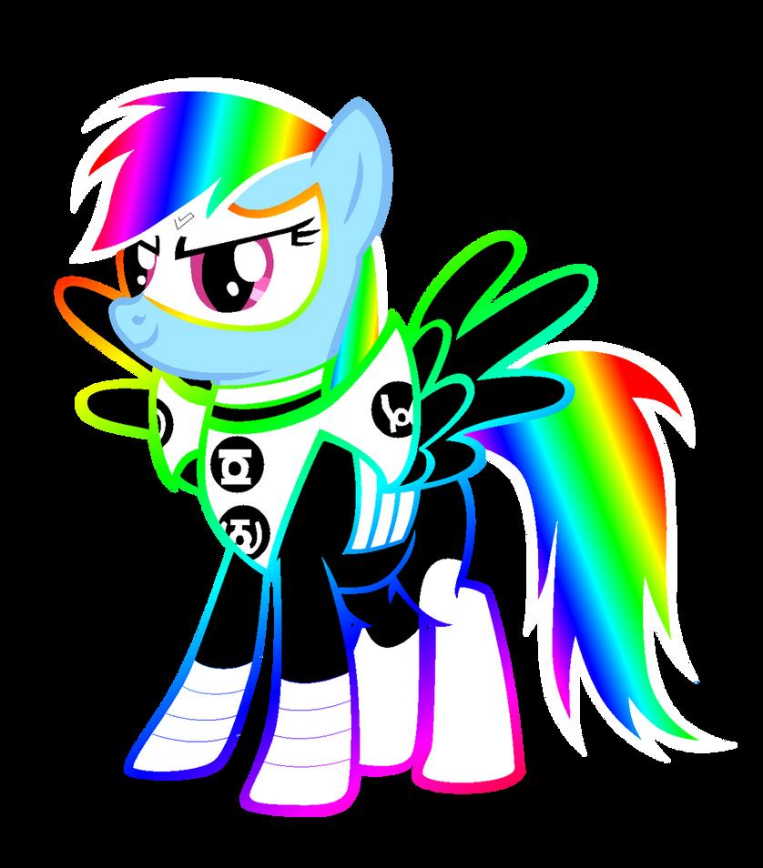 All Lantern Rainbow Dash by Bronyboy