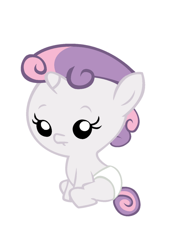 My little pony sweetie belle baby - photo#4