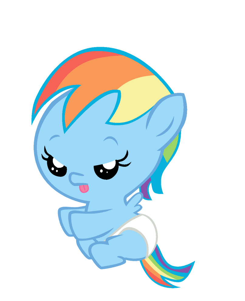 Baby Rainbow Dash Png Baby Rainbow Dash by Bronyboy