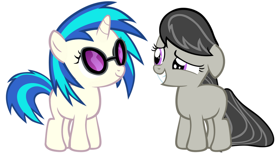 Filly Octavia and Scratch by Bronyboy