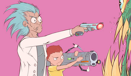 Rick and Morty by greenhickup