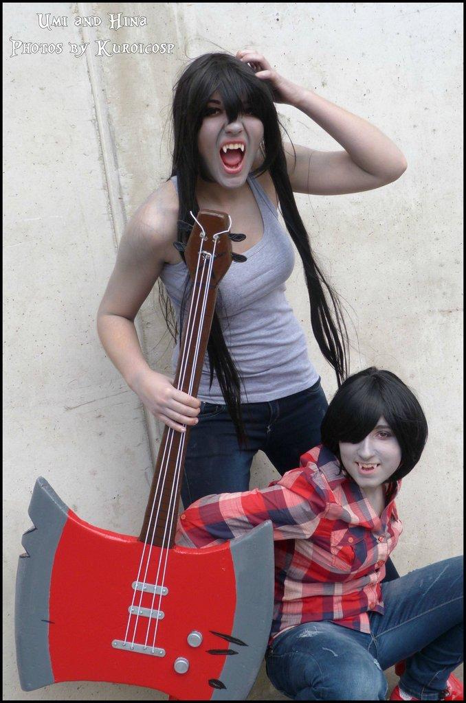 Marceline and Marshall Lee Cosplay by HinaUmiCosplay