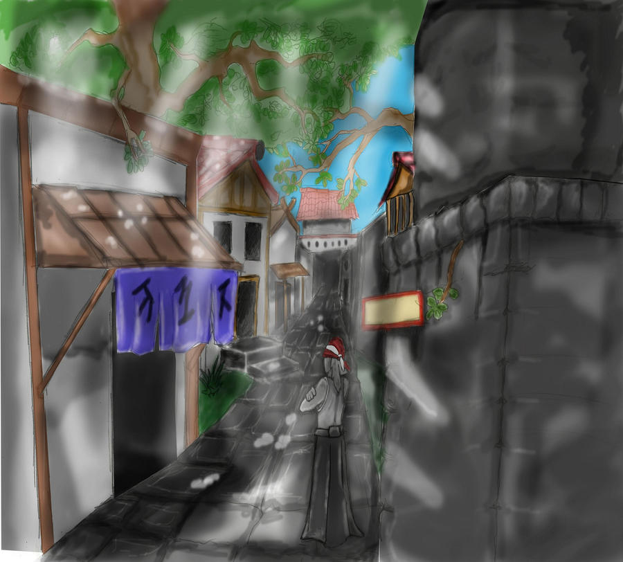 Edo street color doodle fix by SvirreFisk