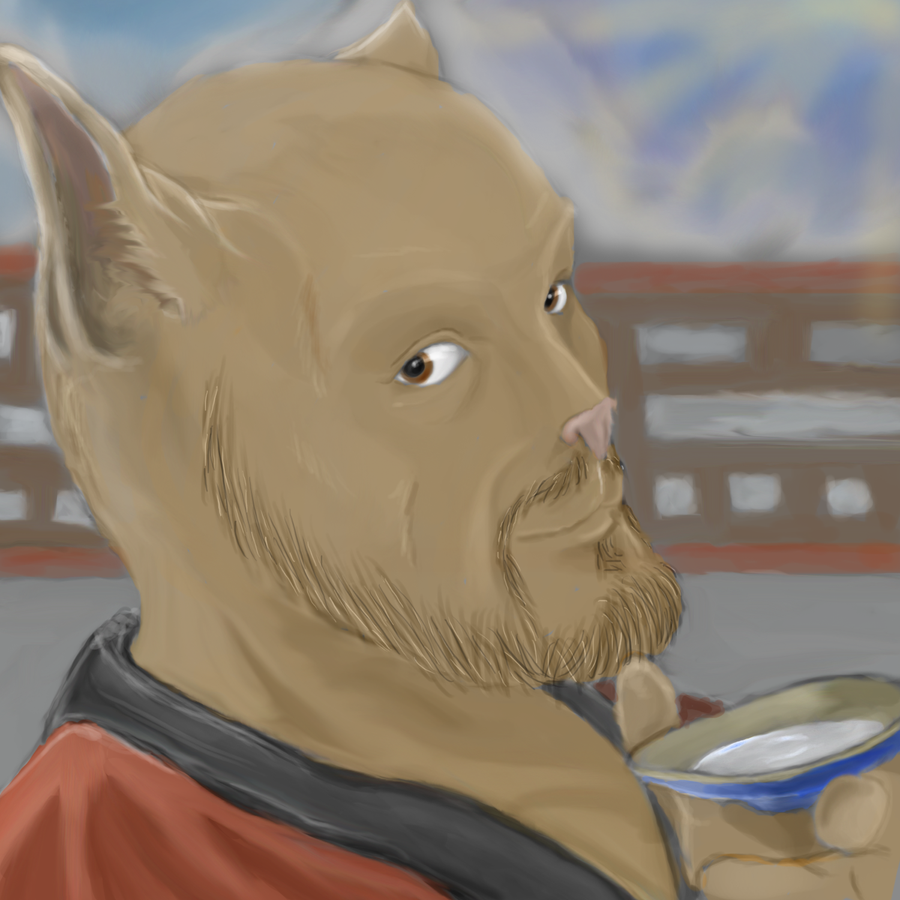 A cup of sake ? by SvirreFisk