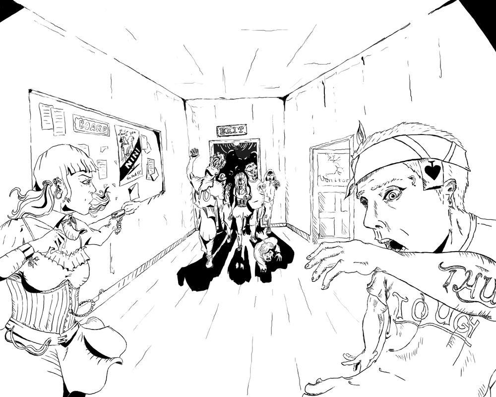 Zombies run ! by SvirreFisk
