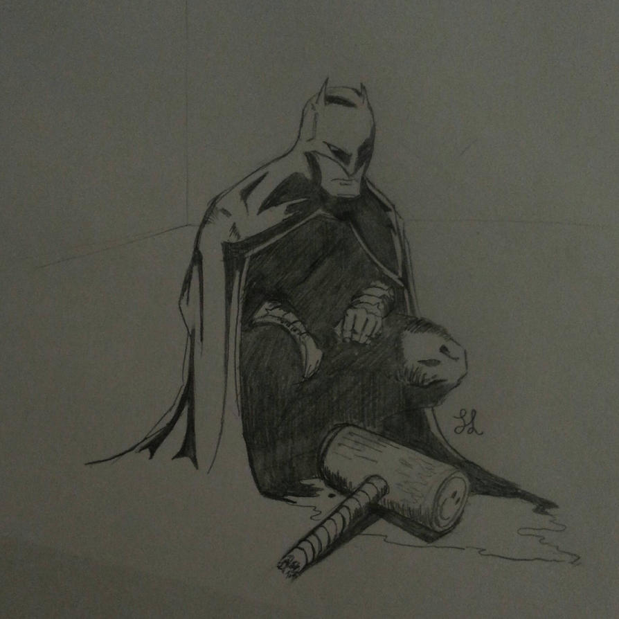 Working nights doing a dark knight doodle by SvirreFisk