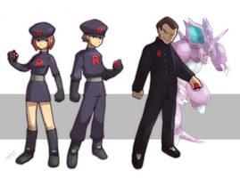 Team Rocket grunt + Giovanni leader by Tomycase