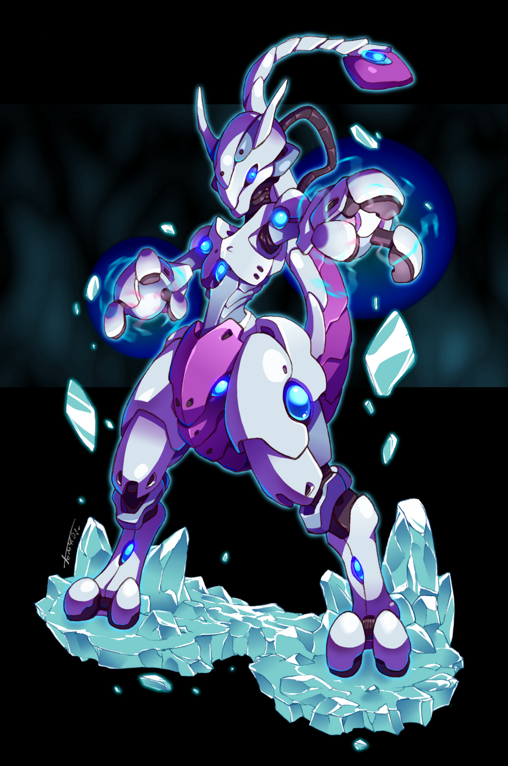 Mecha-Mewtwo by Tomycase on DeviantArt Mecha Mewtwo Sprite