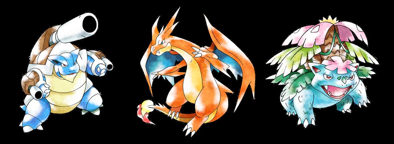 pokemon kanto starters mega - photo #3