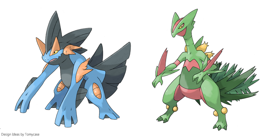 Mega-Swampert and Mega-Sceptile - Early concepts by ...