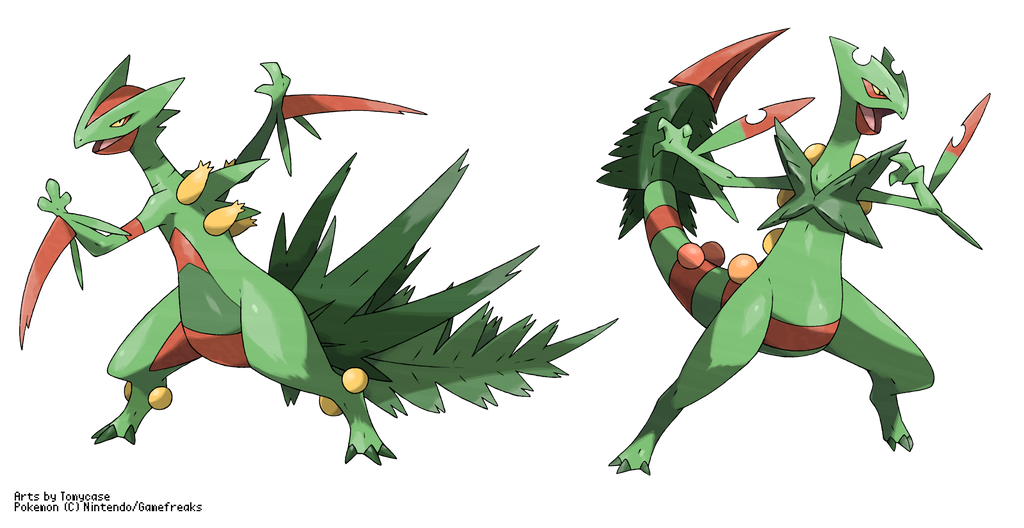 Mega sceptile vs fake m sceptile from me by tomycase on - Mega jungko ex ...