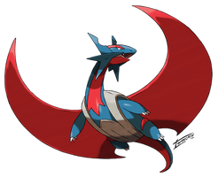 Mega Salamence (official design edited) by Tomycase
