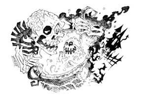 Road to Halloween - Day 2 [Spook-Inktober]