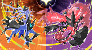 Necrozma Infection : Xerneas and Yveltal by Tomycase