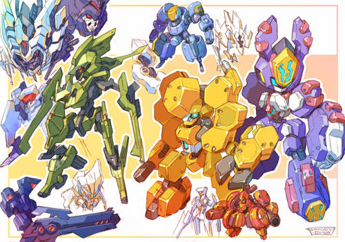 Mechas Sketches