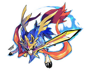 Zacian - Pokemon Sword by Tomycase