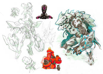 Mech sketches 1