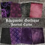 Gothic Rhapsody Journal Cards