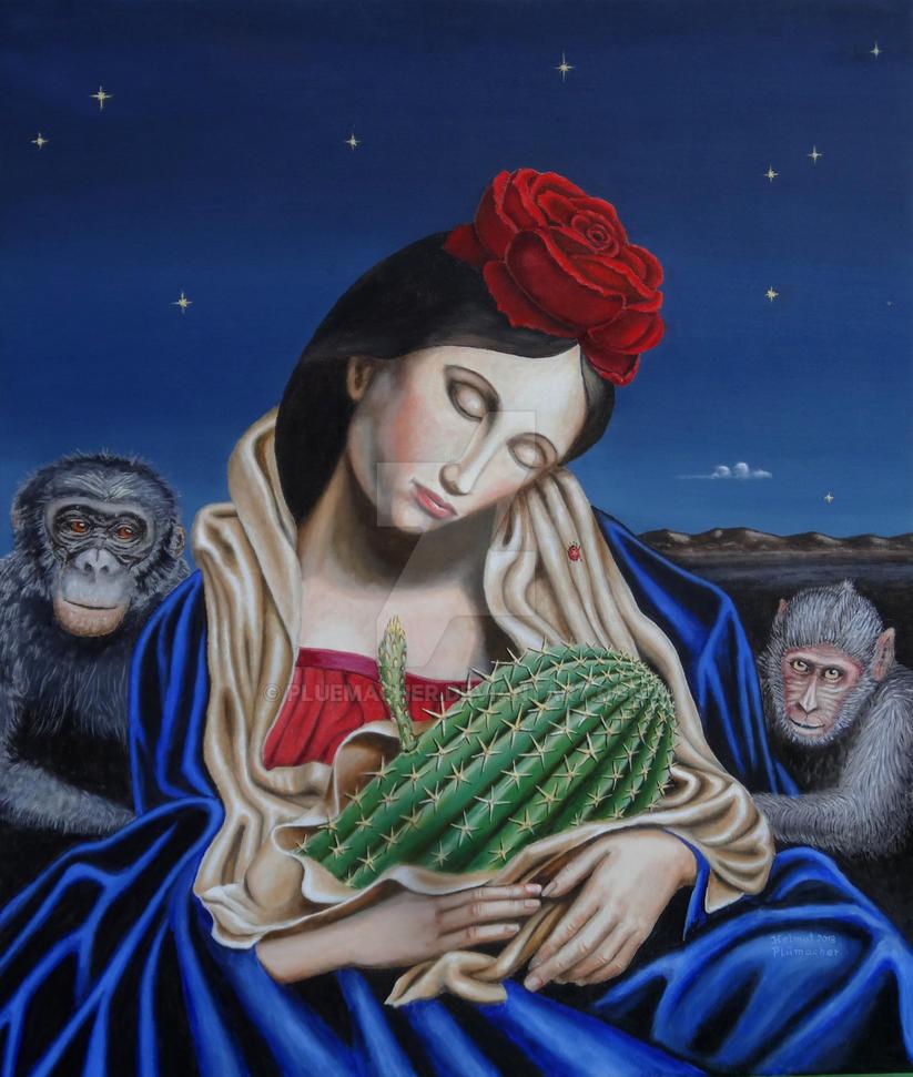 Madonna mit Kaktus by pluemacher