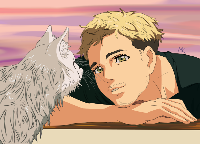 Christophe Giacometti And His Cat By MikiWentThere