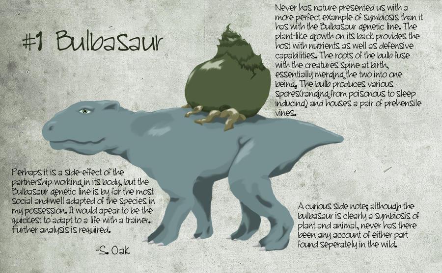 Bulbasaur, A Field Study by TravestyYM