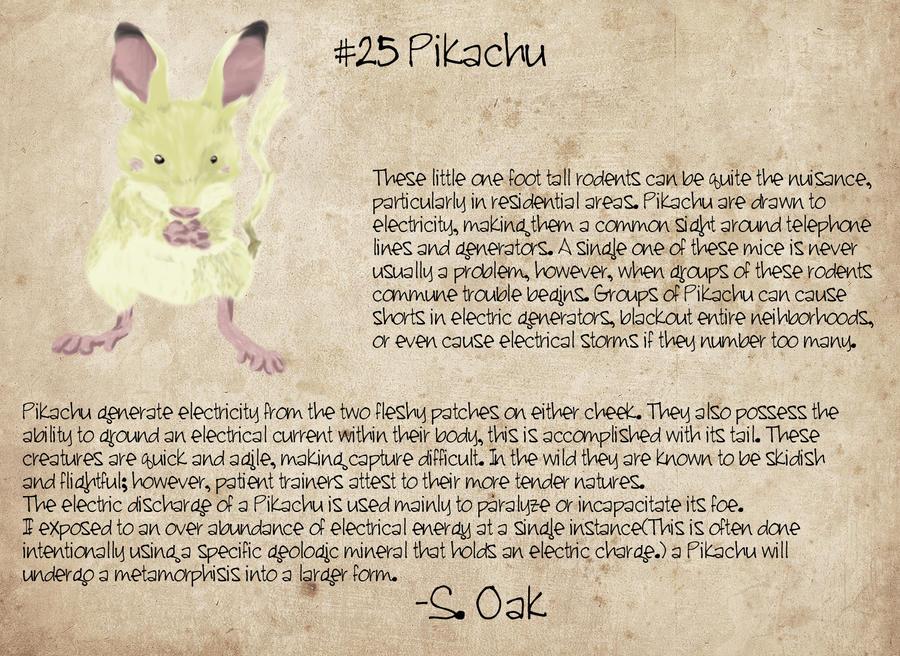 Pikachu, A Field Study by TravestyYM