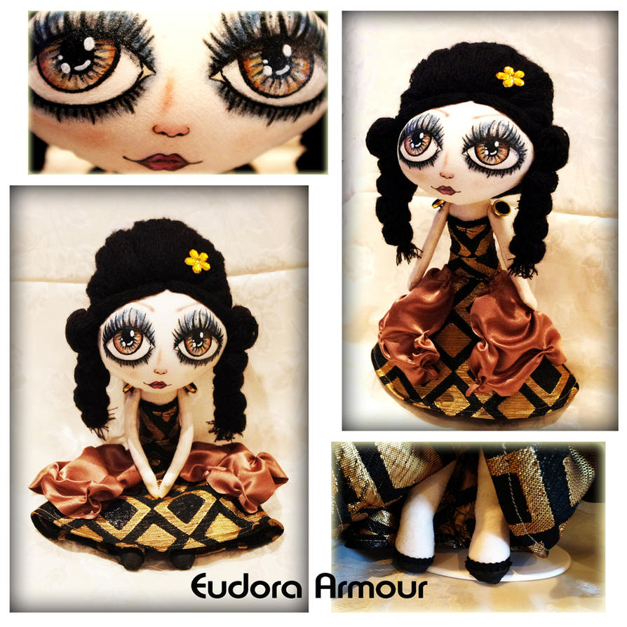 Eudora Amour Original OOAK Cloth Art Doll_col By