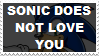 Sonic Does Not Love You Stamp by AskFelicity