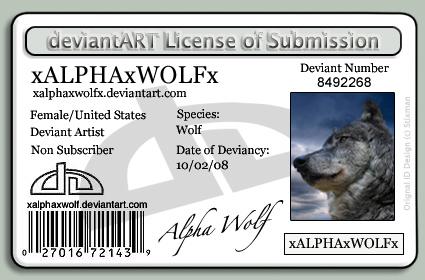 xALPHAxWOLFx Identification by xALPHAxWOLFx