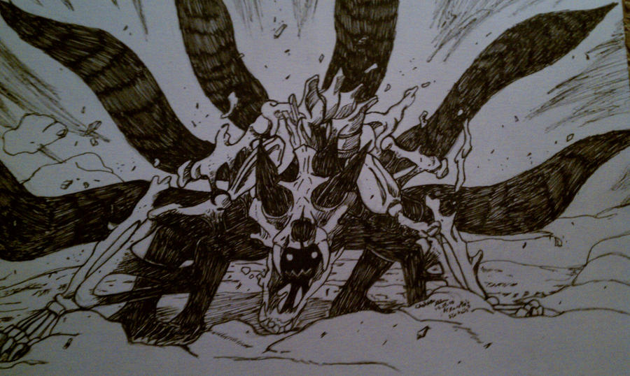 Naruto's 6 Tails Form by TsukiDemonWolf on DeviantArt