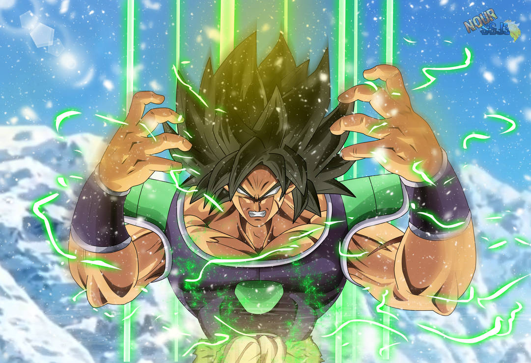 Broly Powering Up