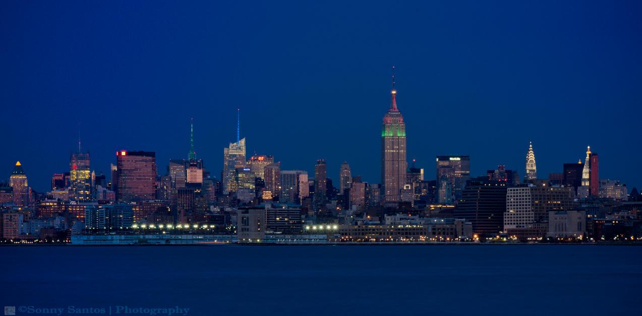 New York City Skyline At Night Drawing | www.imgkid.com ...