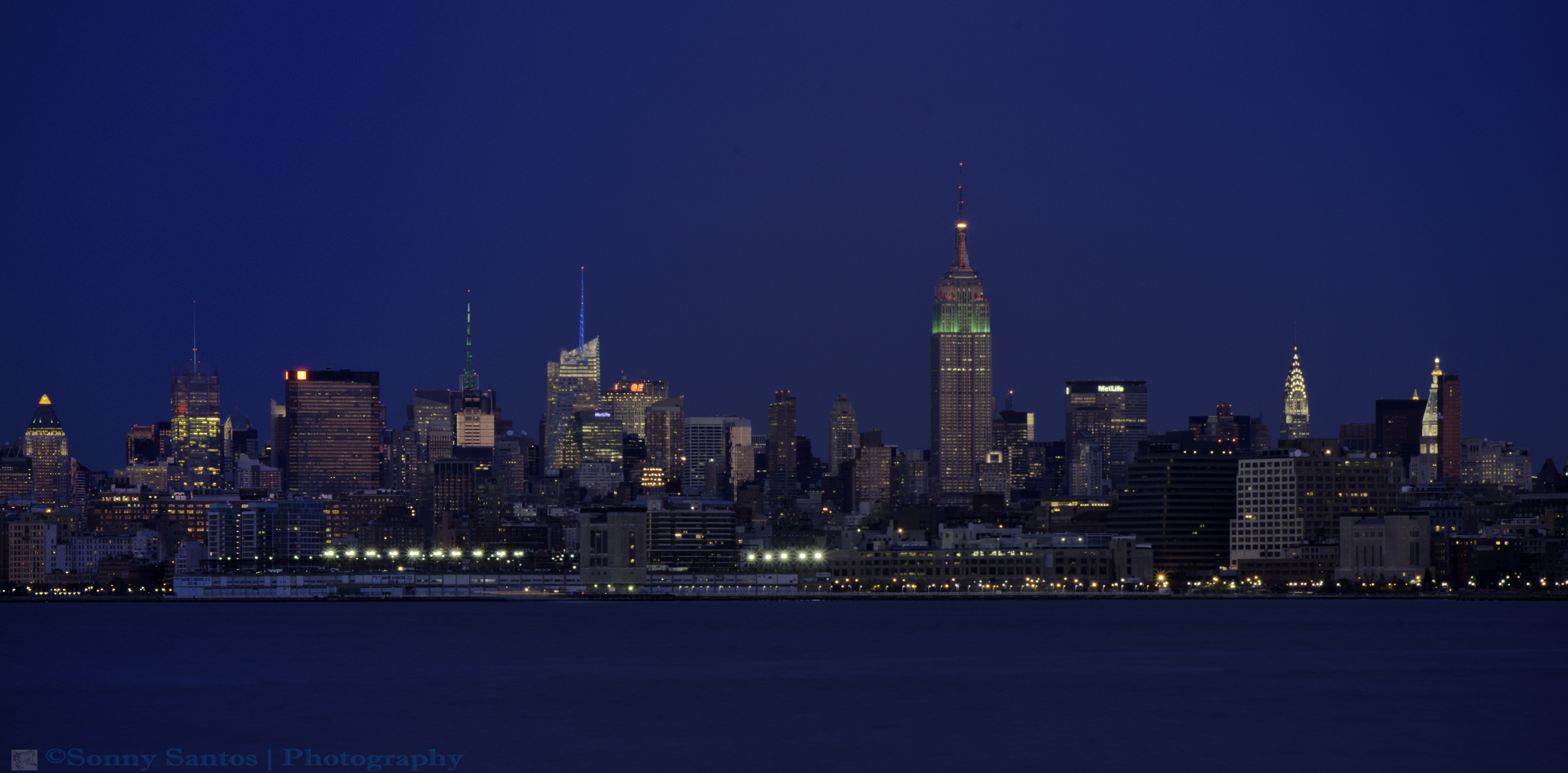 New York City Skyline At Night By Jayars On DeviantArt