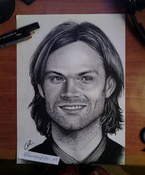 Jared Padalecki (Sam Winchester) Portrait by LauraMorghulis
