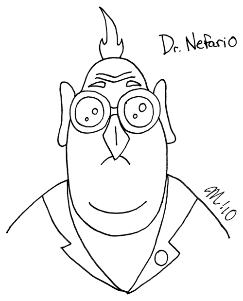 Despicable Me Dr Nefario Drawing 30 Day Challenge - Dr....