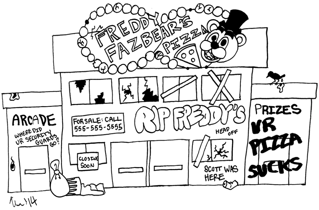 Amazing Freddy Fazbears Pizza Coloring Pages Ensign