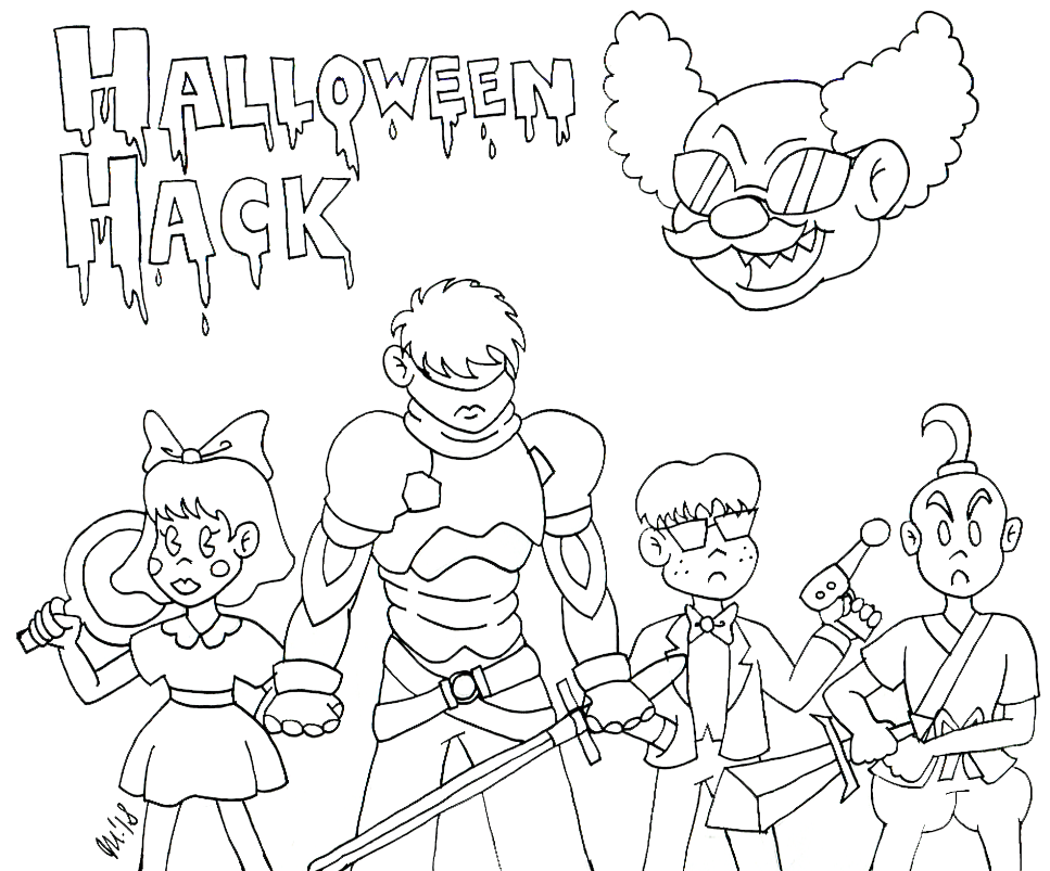 Radiation's Halloween Hack Fan Art by melissaduck on DeviantArt