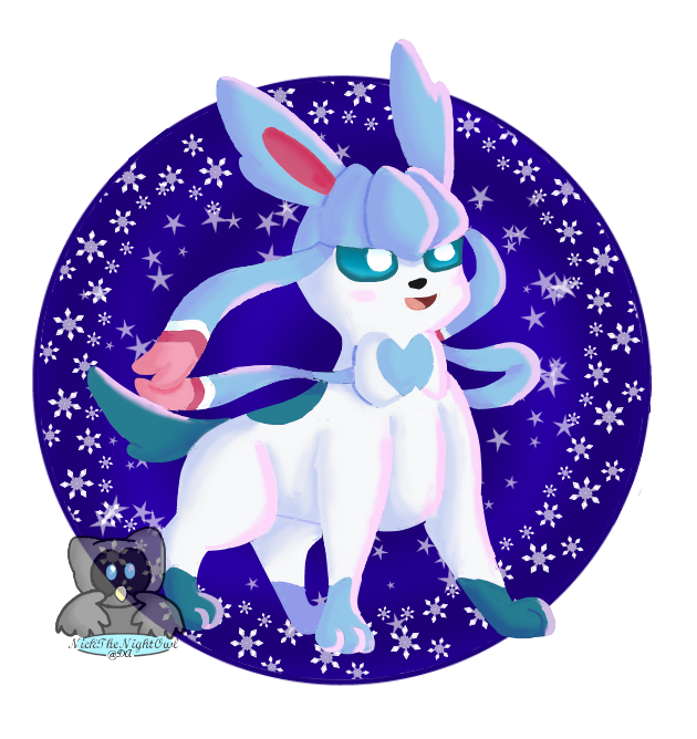 PokeFusions - Glaceon + Shiny Sylveon by NickTheNightOwl