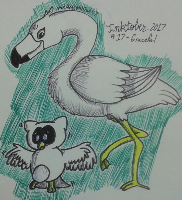 Inktober 2017 Day 17 - Graceful by NickTheNightOwl